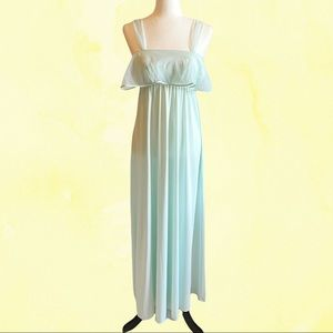 Vintage 70s maxi night gown baby blue